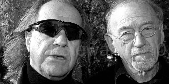 Legendary rock group The Pretty Things, Phil May and Dick Taylor, are pictured on Chiswick Common ahead of their rare UK appearance at the Eel Pie Club in November goes with words by Tony Bushby - 23rd October 2007 Ref: PST © Paul Stewart / POTP